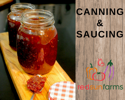 Canning and Saucing