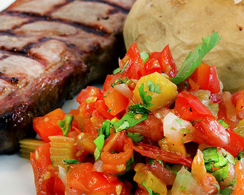 Father's Day Dish: Grilled Steak with Tomato Chutney