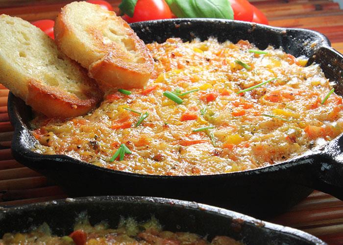 Hot Tomato Cheese Dip