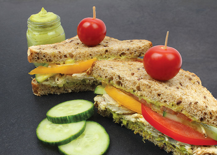 Chicken Cucumber Sandwiches with Avocado Mayo