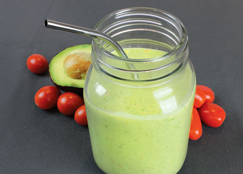 Savory Avocado Tomato Smoothie