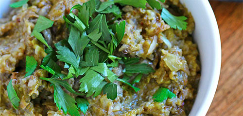 Roasted Eggplant & Sweet Onion Dip