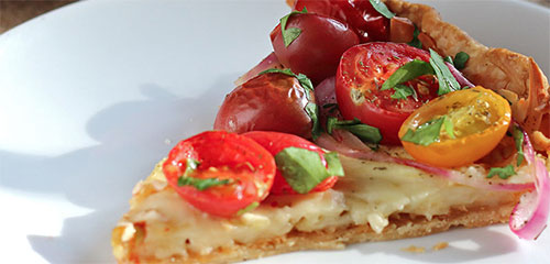 Tomato, Zucchini & Red Onion Tart